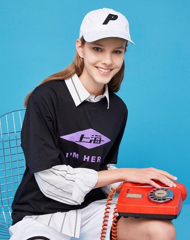 Round Neck Short Sleeve Loose Women's T-Shirt