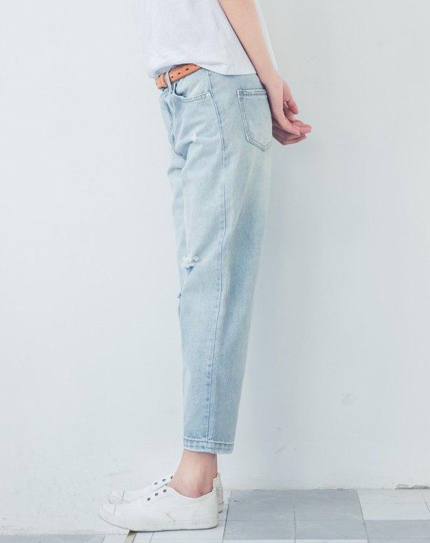 Blue Ripped Women's Jeans