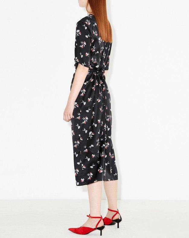 블랙 반소매 여성 드레스
