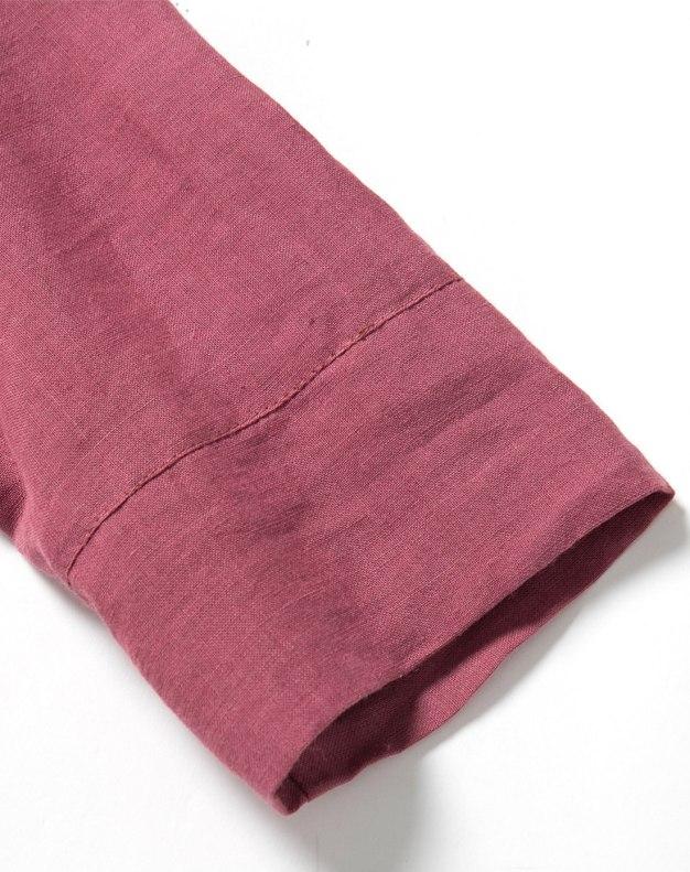 Red Round Neck Sleeve Long Standard Women's Dress