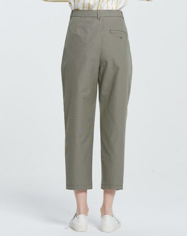 Green Washed Cropped Women's Pants