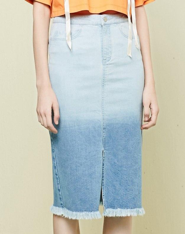 블루 짧은 치마 여성 랩스커트 스커트