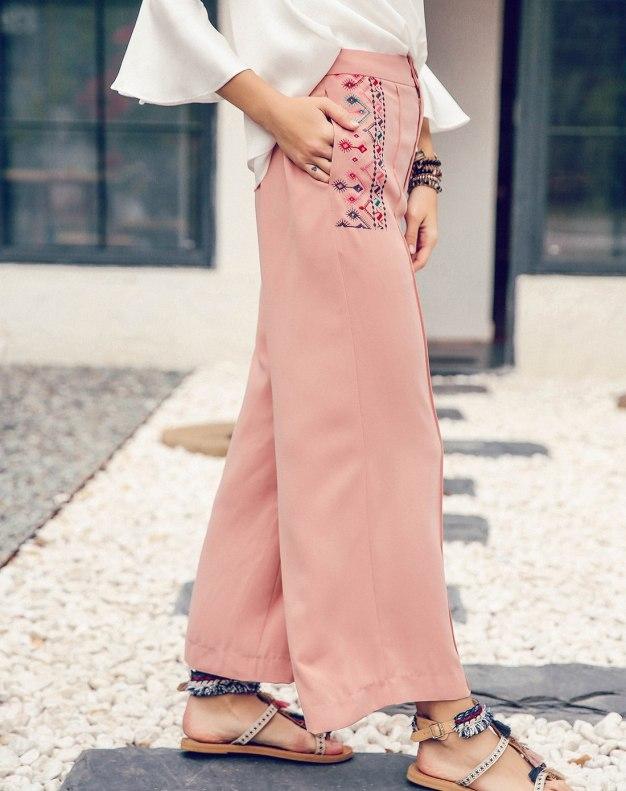 Pink Cropped Women's Pants