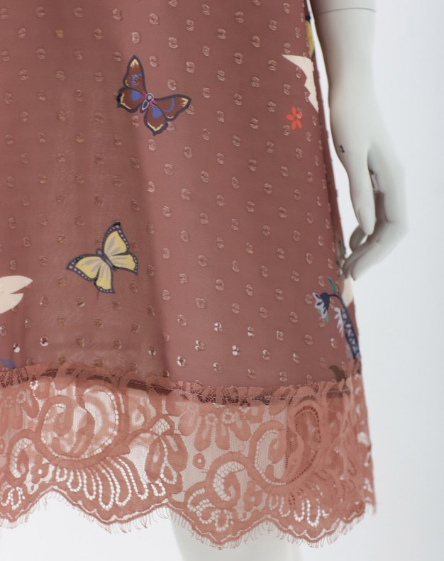 Colourful Round Neck Half Sleeve A Line Standard Women's Dress