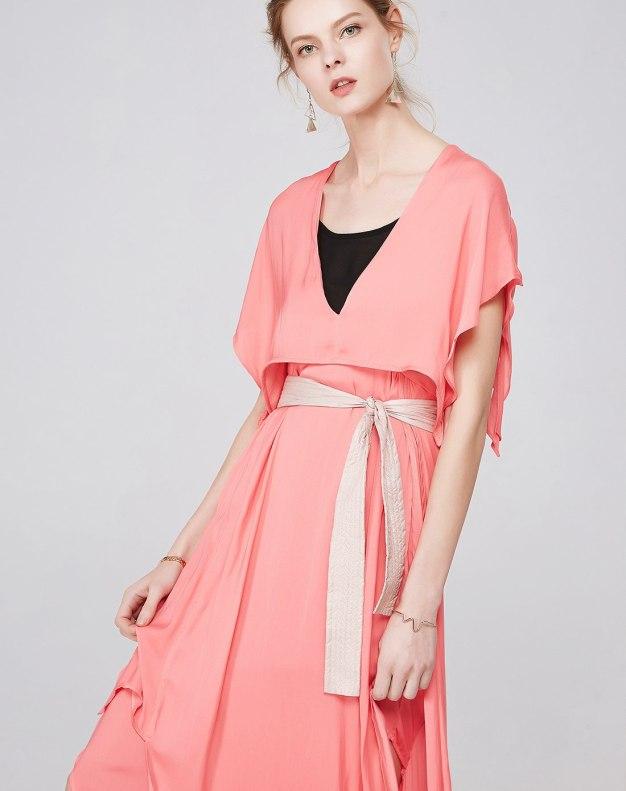 레드 여성 드레스