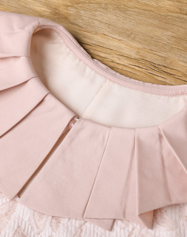 Pink Round Neck Sleeve A Line Standard Women's Dress