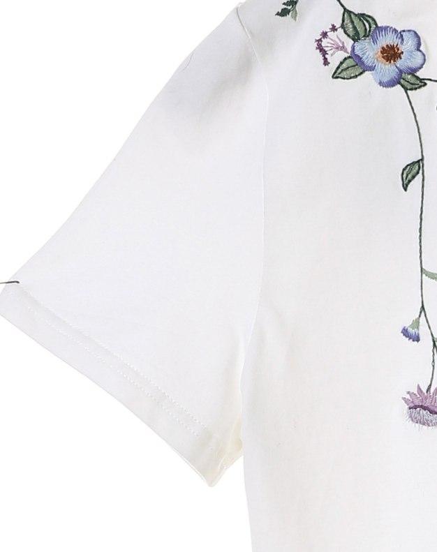 White V Neck Short Sleeve Standard Women's T-Shirt