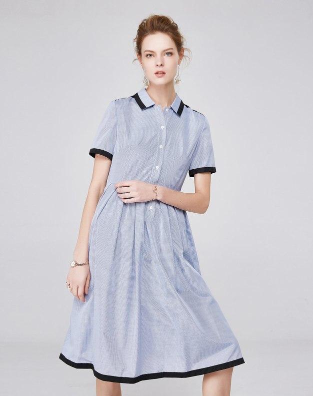 Others1 반팔 티셔츠 A라인 스커트 여성 드레스