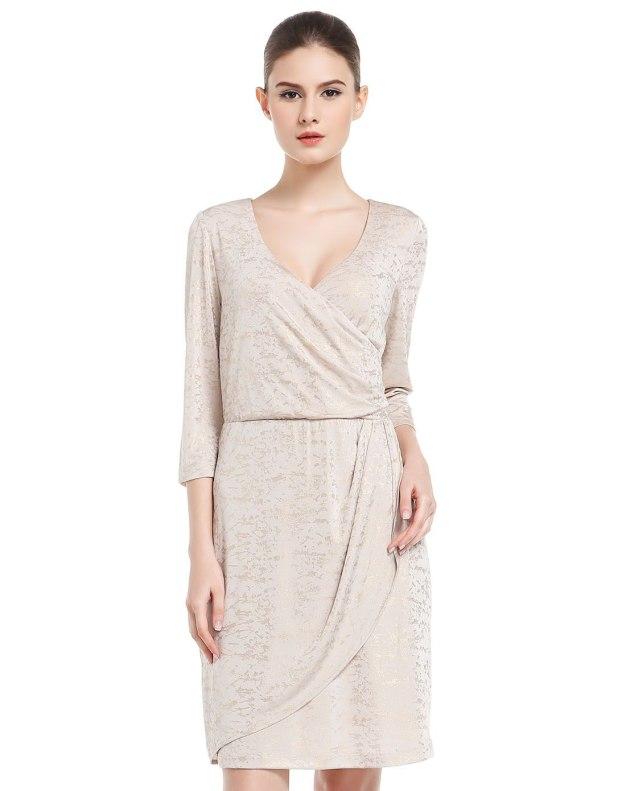 Others1 3/4소매 여성 드레스