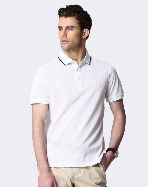 White Plain Short Sleeve Standard Men's T-Shirt