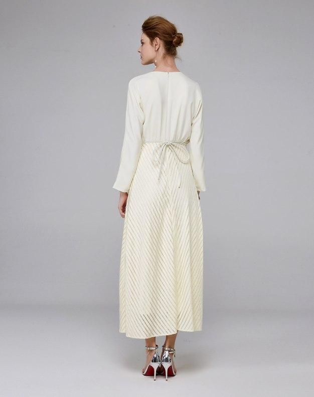 Others1 긴소매 A라인 여성 드레스