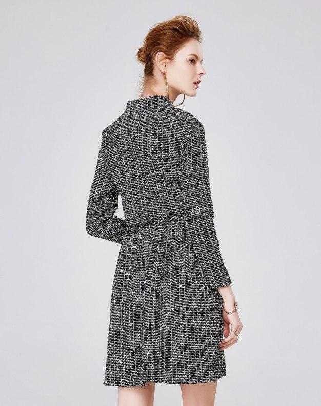 Others1 긴소매 A라인 스커트 여성 드레스