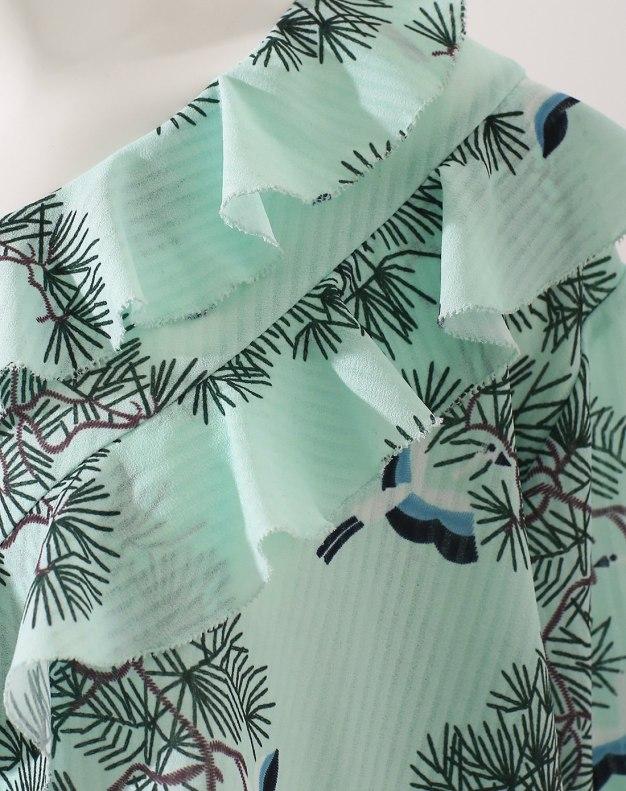 Colourful V Neck Elastic Short Sleeve Standard Women's Shirt