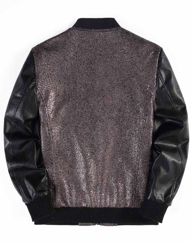 Coffee Baseball collar Long Sleeve Standard Men's Jacket