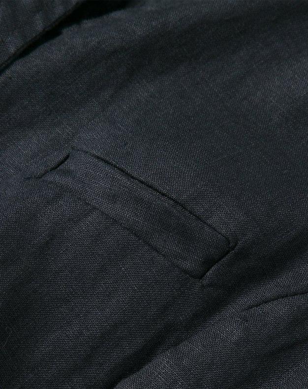 Black Stand Collar Sleeveless 3/4 Length Fitted Women's Dress