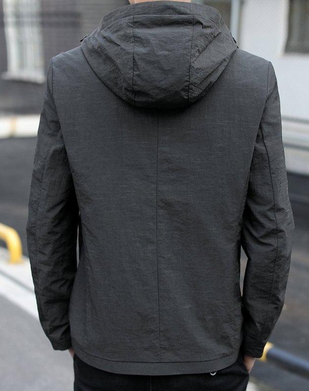 Hidden Hood Long Sleeve Fitted Men's Jacket