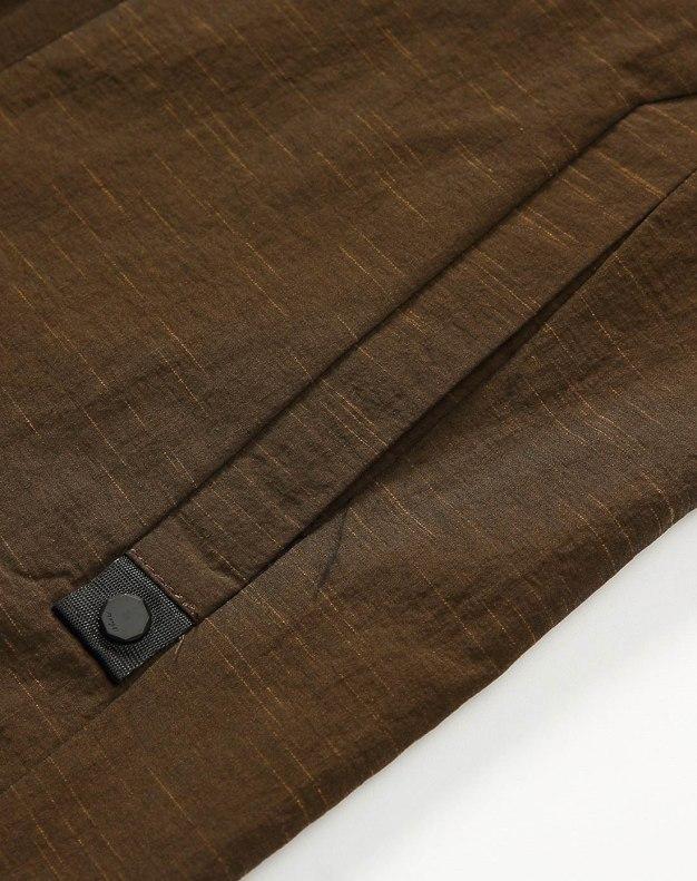 Yellow Hidden Hood Long Sleeve Fitted Men's Jacket