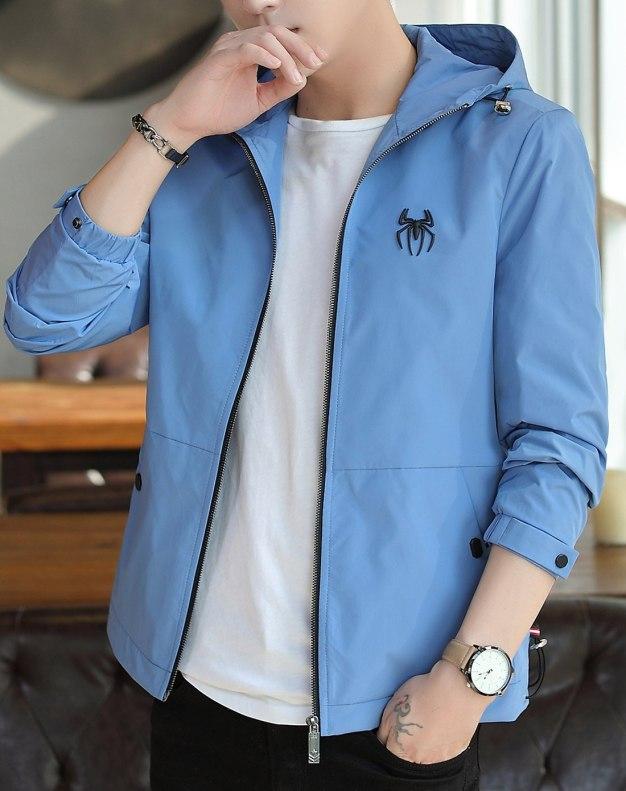 Hidden Hood Long Sleeve Men's Jacket