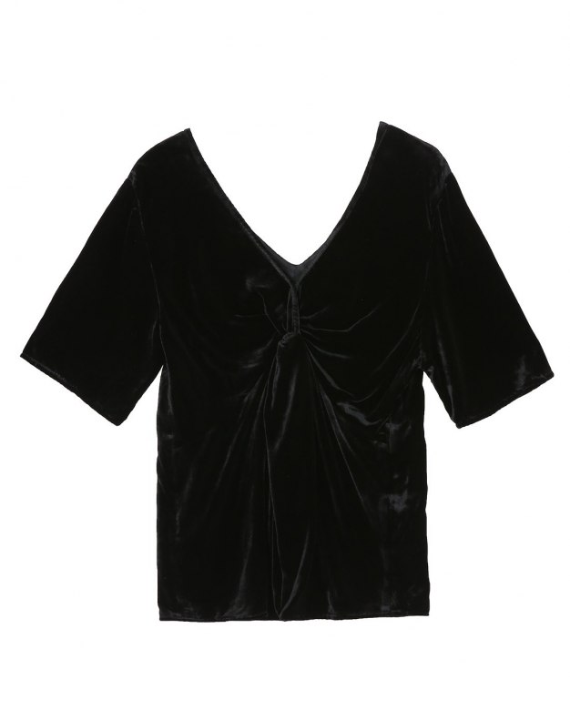 블랙 여성 티셔츠