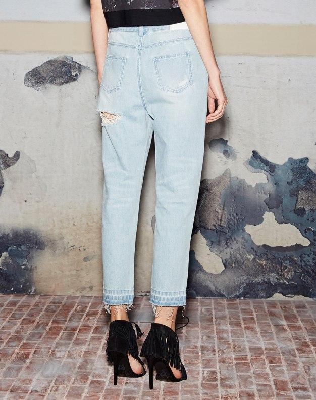 블루 끝단 올풀림 디자인 미드  여성
