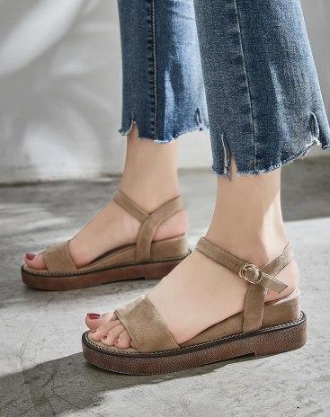 Apricot Wedges Portable Women's Sandals