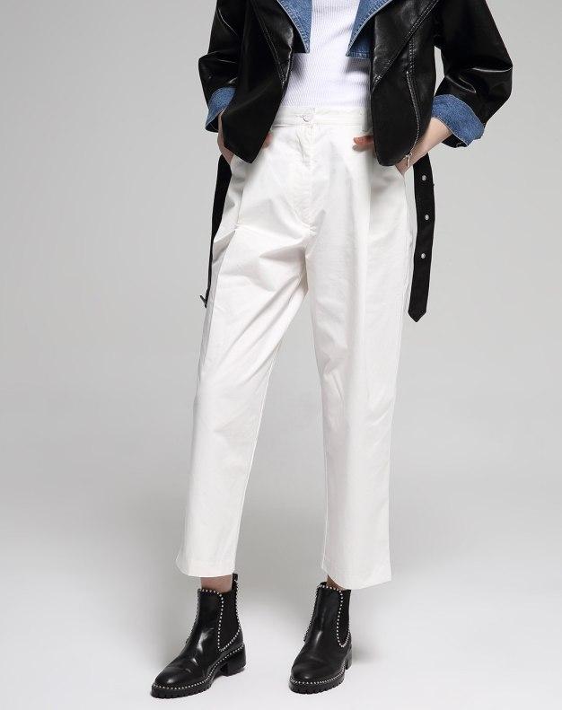 White Long Women's Pants