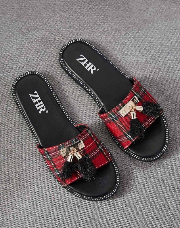 Red Flat Anti Skidding Women's Sandals