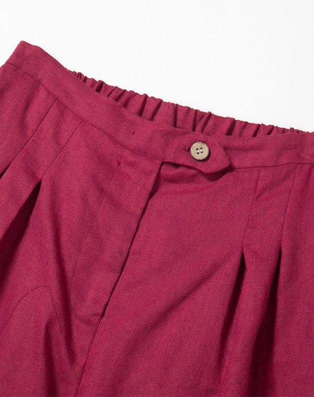 Red 3/4 Length Women's Pants