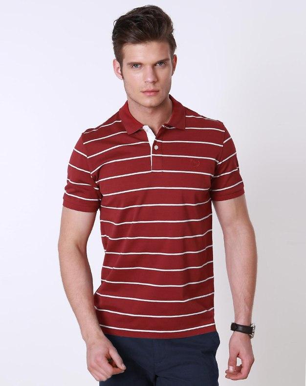Red Stripes Short Sleeve Standard Men's T-Shirt