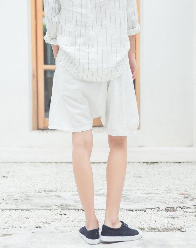 White CroppedPants Women's Pants