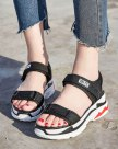 Red Flat Portable Women's Sandals