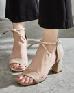 Beige High Heel Women's Sandals