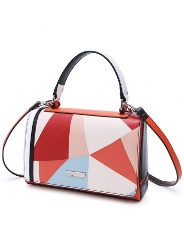 Others1 Color Block PU Small Women's Crossbody Bag