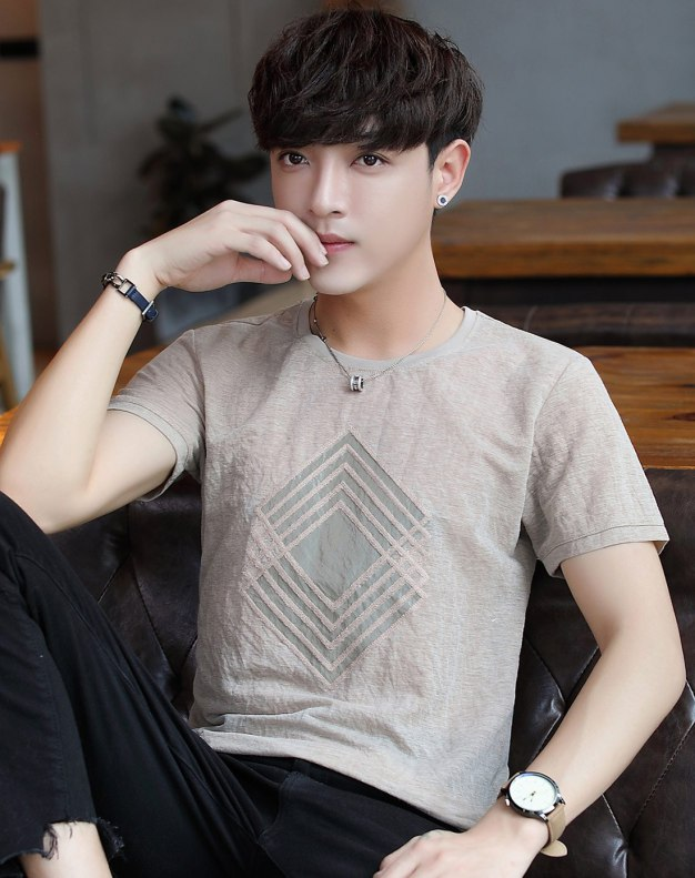 Round Neck Short Sleeve Standard Men's T-Shirt