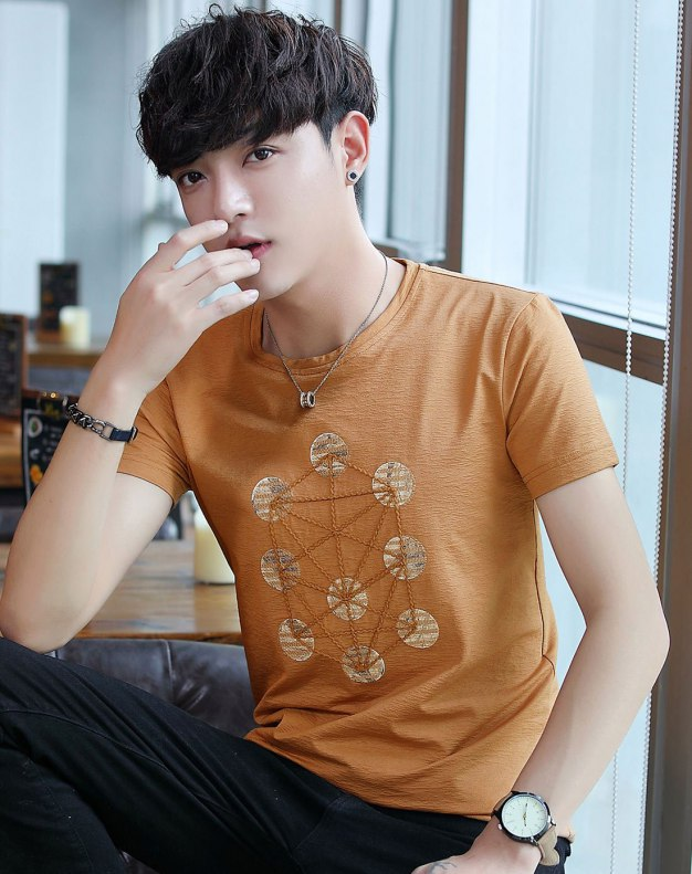 Yellow Men's T-Shirt