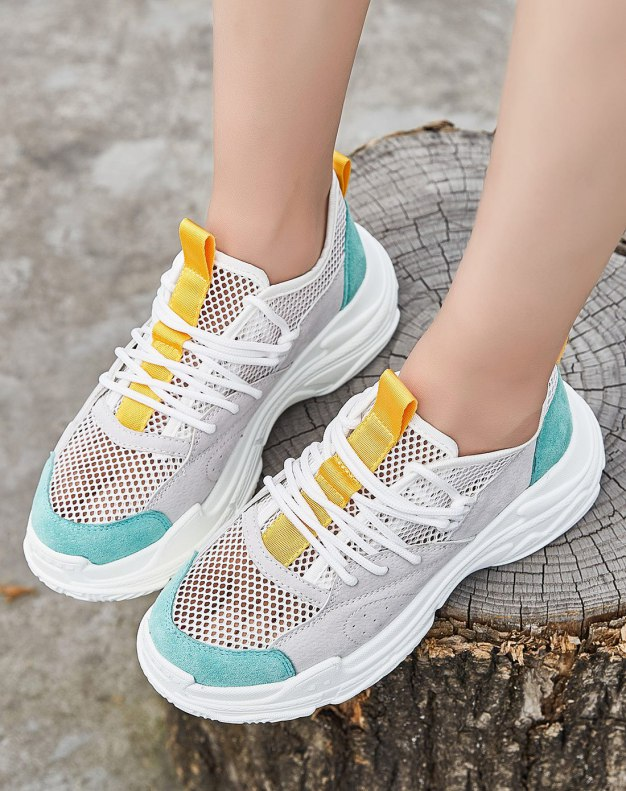 Green Round Head Flat Women's Outdoor Shoes