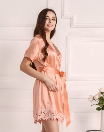 Polyester Thin Women's Night-Robe