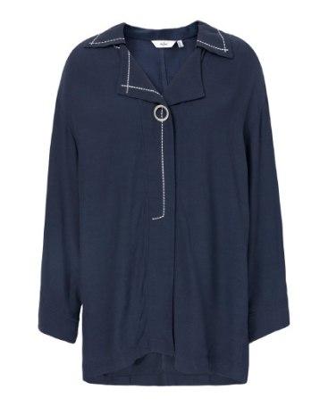 Indigo Long Sleeve Women's Shirt