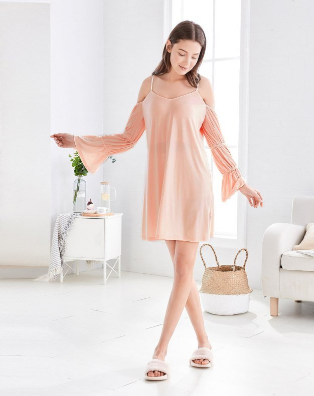 Modal Long Sleeve Thin Women's Sleepwear