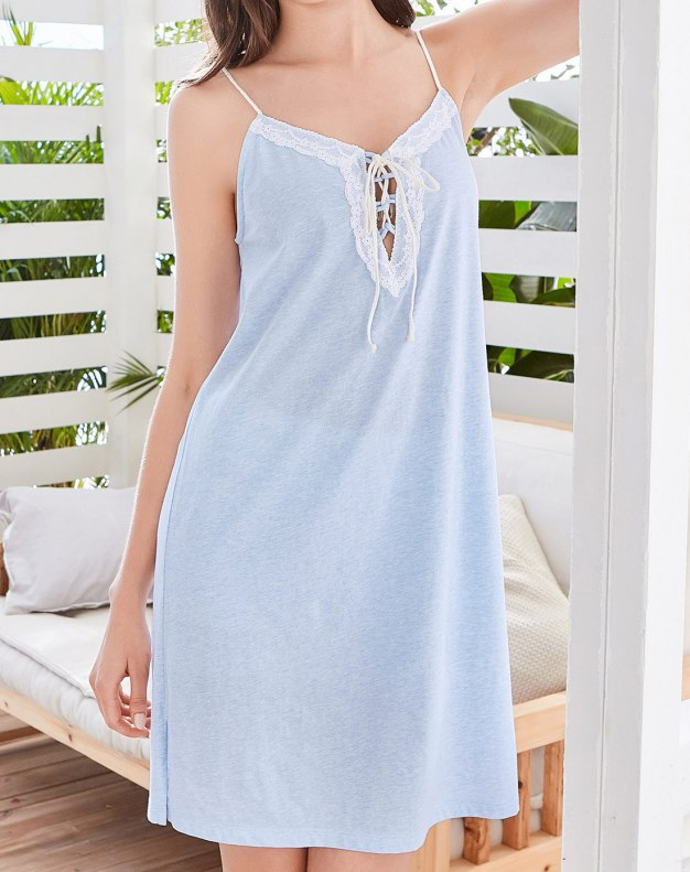 Cotton Sleeveless Standard Women's Sleepwear
