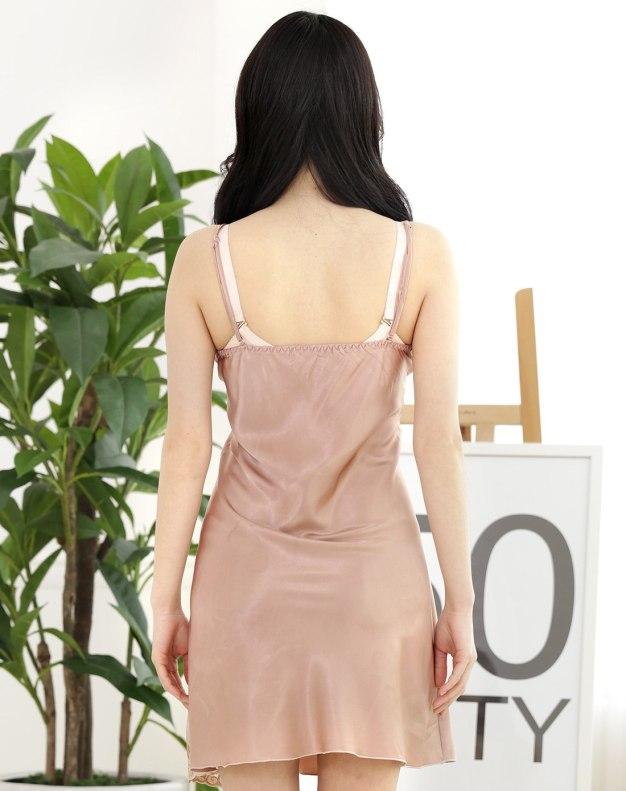 Polyester Short Sleeve Thin Women's Sleepwear