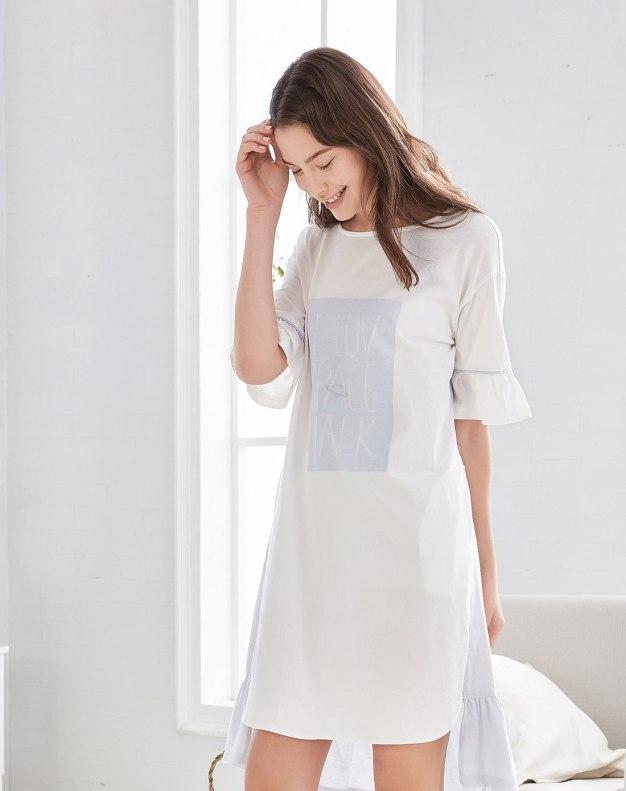 Others1 순면 반팔 티셔츠 여성 잠옷
