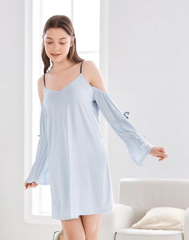 Modal Long Sleeve Thin Women's Sleepwear