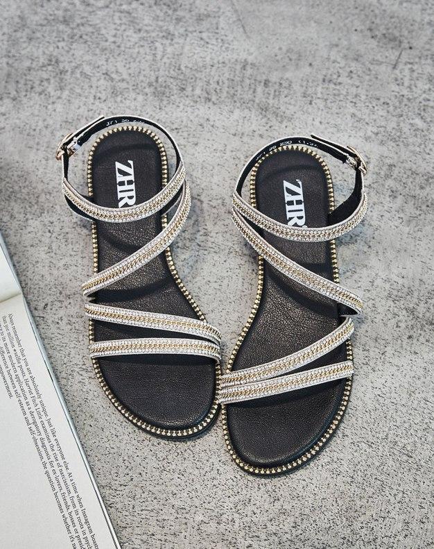Yellow Flat Anti Skidding Women's Sandals