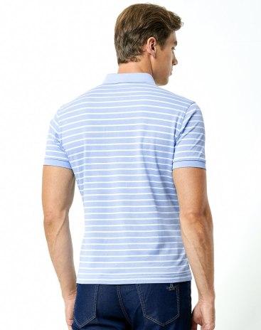 Stripes Neck Short Sleeve Standard Men's Polo