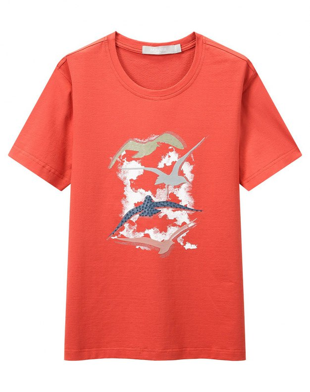 Red Plain Round Neck Short Sleeve Men's T-Shirt