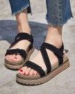 Beige Flat Portable Women's Sandals