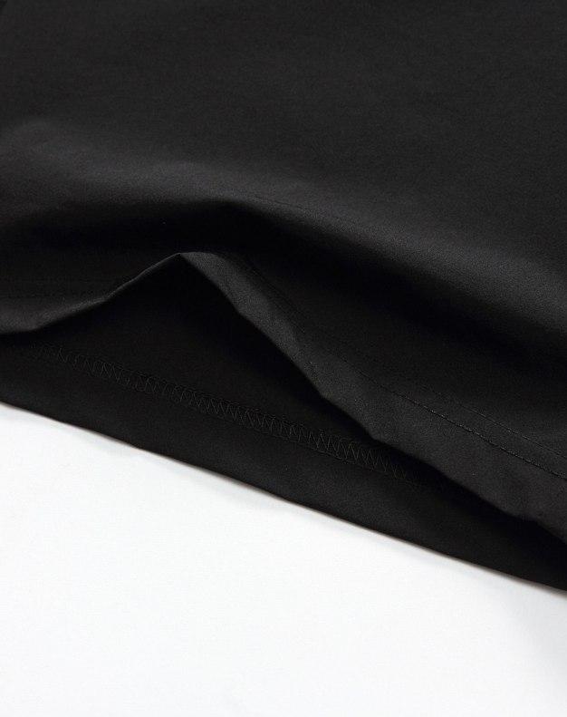 Black Drawstring Light Elastic CroppedPants Men's Pants