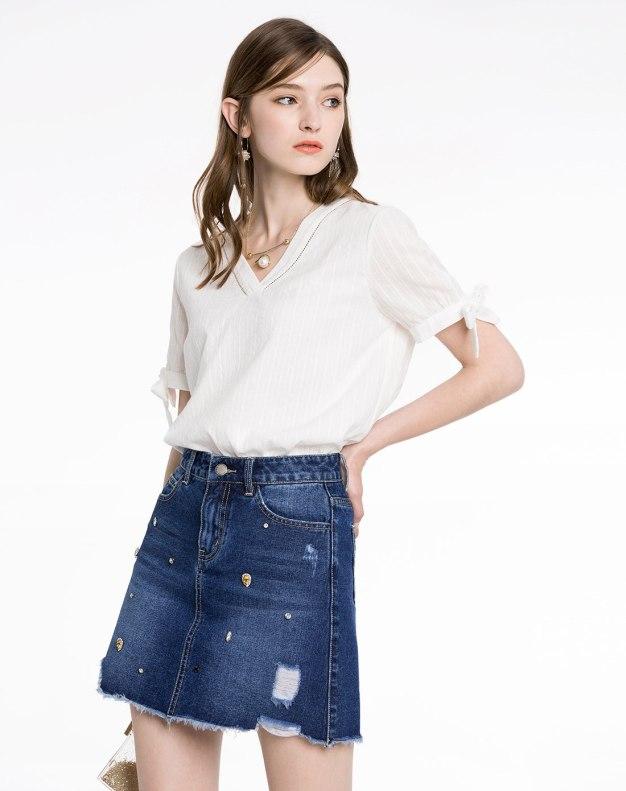 Blue Women's A Line Skirt