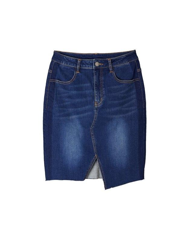 Blue High Waist Women's A Line Skirt